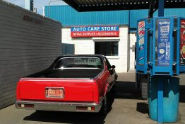 Classic Car in Auto Detail Bay